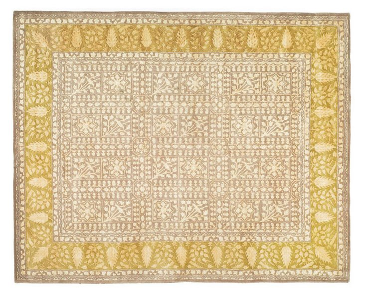 Silk Road Rug, Beige/Gold