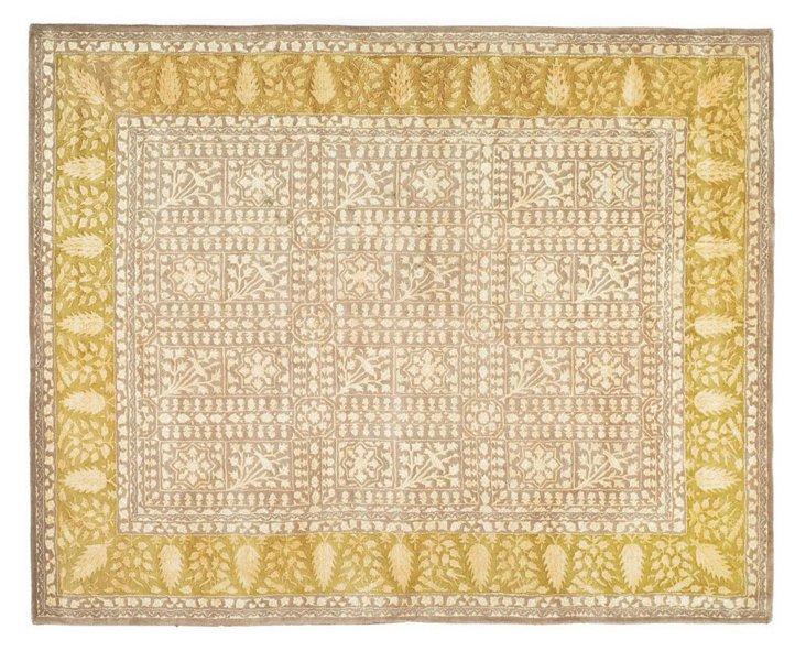 3'x5' Silk Road Rug, Beige/Gold