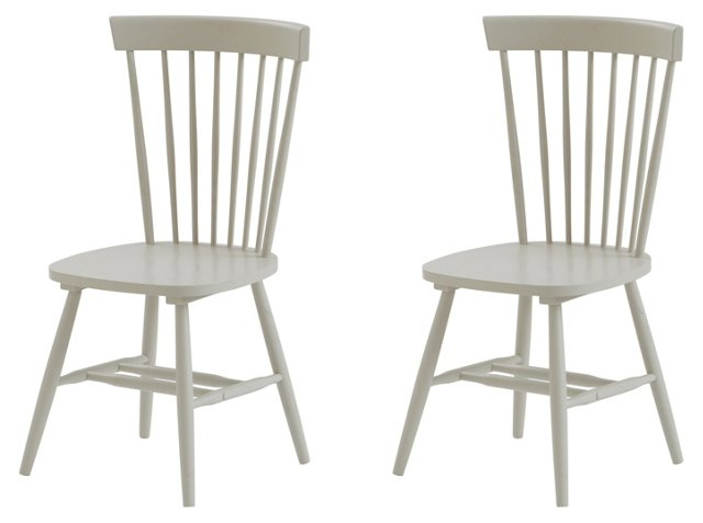 Gray Abigail Dining Chairs, Pair
