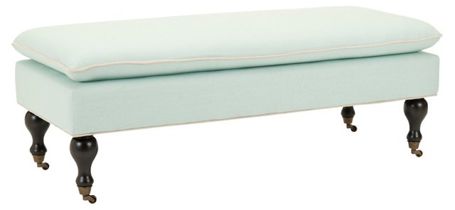 Nikolette Pillow-Top Bench, Celadon