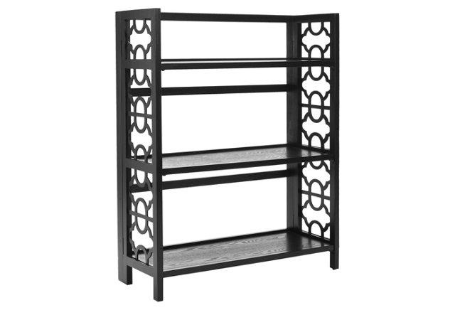 Fletcher Low Bookcase, Black