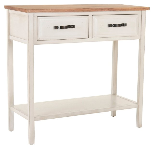 Glory 2-Drawer Console, White