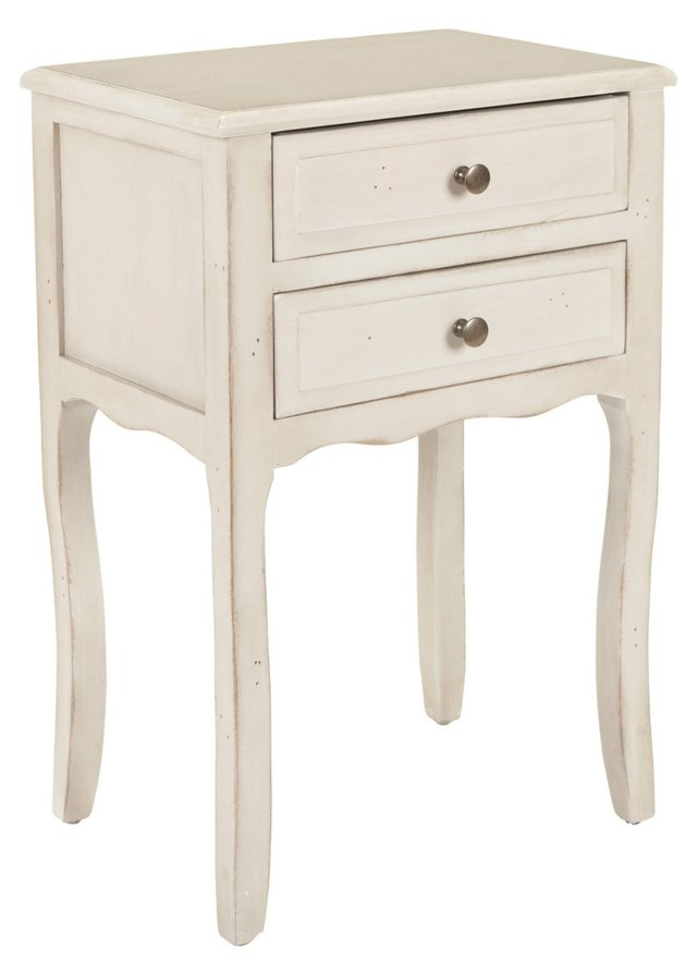 Lawrence Nightstand, Distressed White
