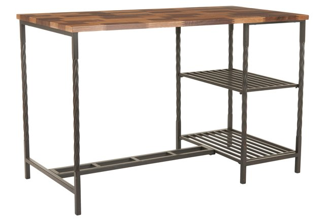 Harbert Desk, Maple/Black