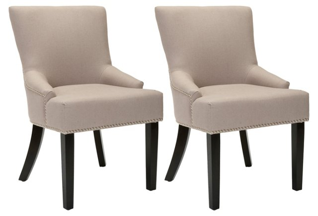 Sand Locke Side Chairs, Pair