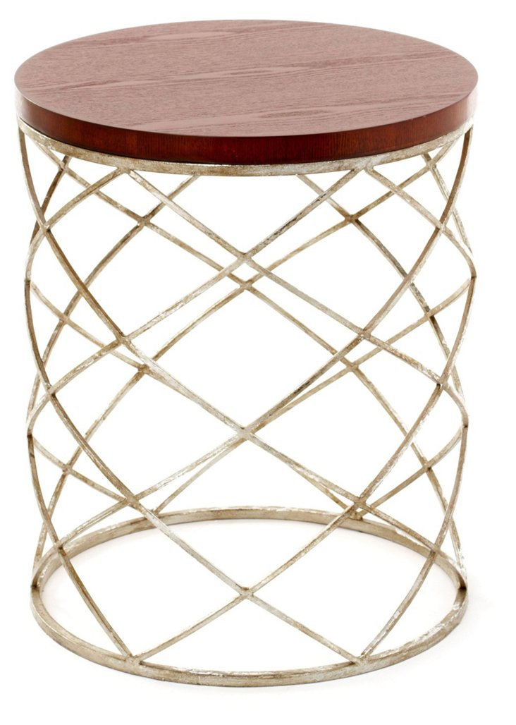 Kimble Side Table, Brown/Silver