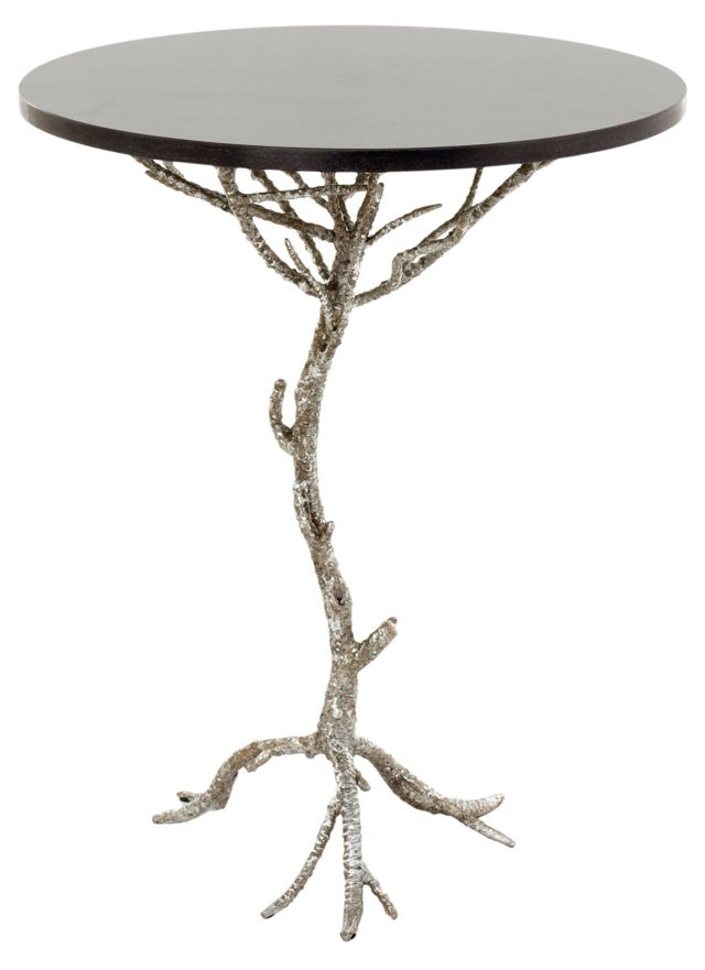 Crawford Granite Side Table, Black
