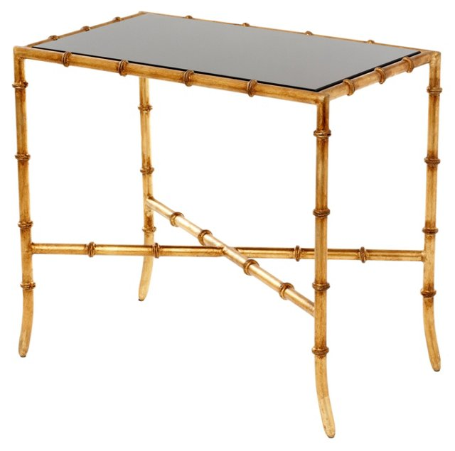 Chase Accent Table, Black/Gold