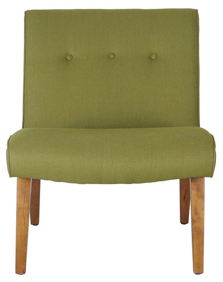 Maxwell Chair, Apple Green/Natural