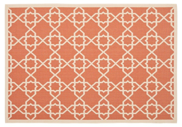 Flora Outdoor Rug, Orange