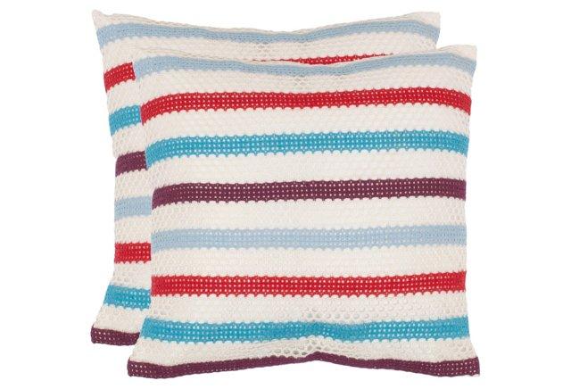 S/2 Astrid 18x18 Pillows, Multi
