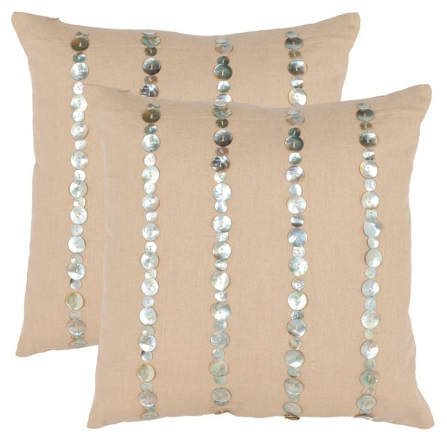 S/2 Maja 18x18 Pillows, Almond