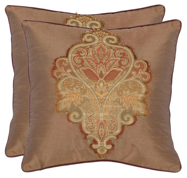 S/2 Ria 18x18 Pillows, Tan