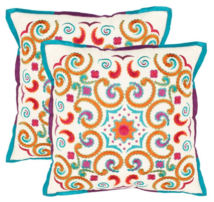 S/2 Calycopis 18x18 Pillows, Multi