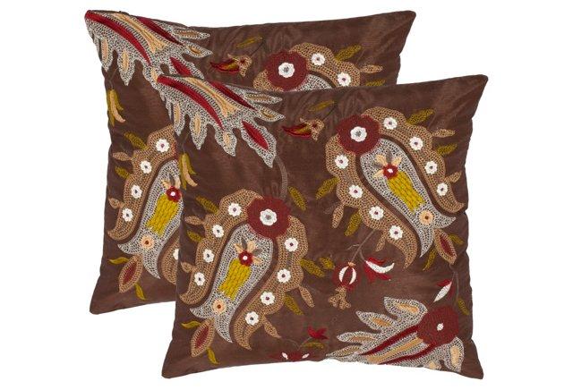 S/2 Skipper 18x18 Pillows, Multi