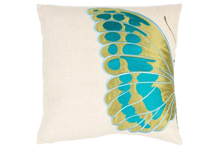 S/2 Indra 18x18 Pillows, Blue