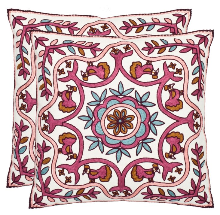S/2 Rudy 18x18 Cotton Pillows, Multi