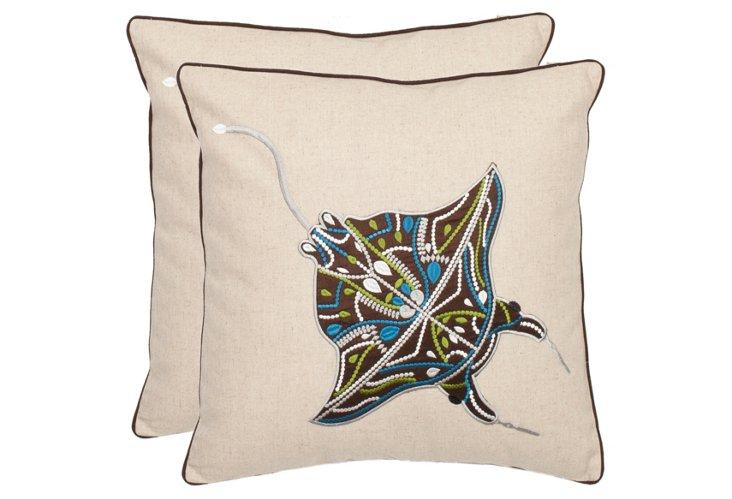 S/2 Fabian 18x18 Pillows