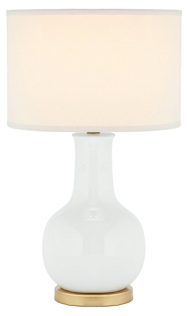 Evelyn Table Lamp, White