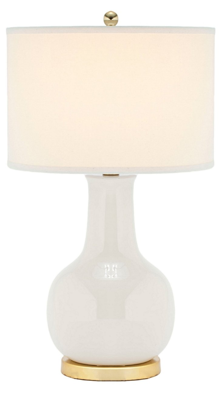 Evelyn Table Lamp, Talc
