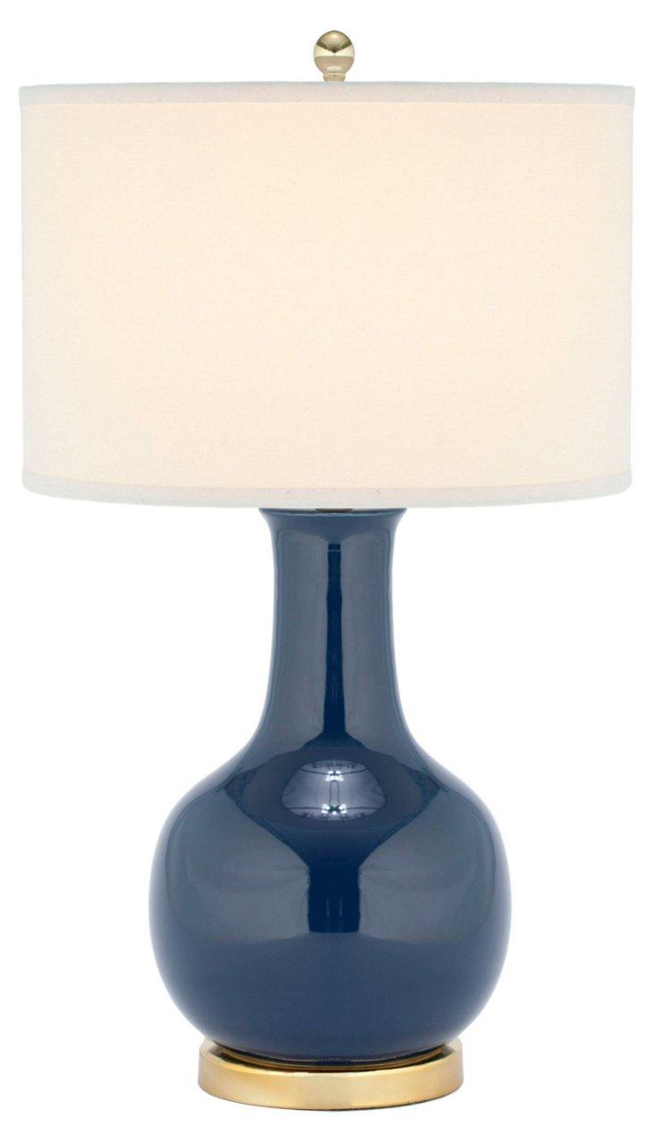 Evelyn Table Lamp, Royal Blue