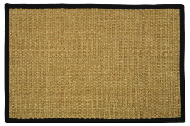 Malcom Sea-Grass Rug, Wheat/Black