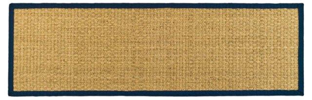 Malcom Sea-Grass Rug, Natural/Blue
