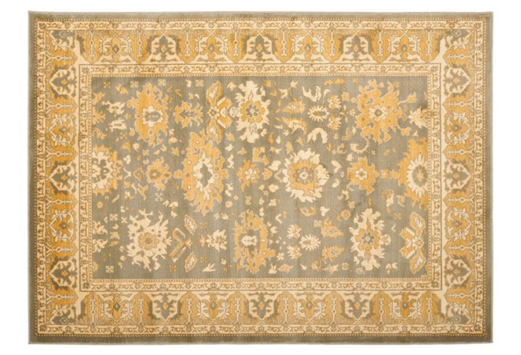 "5'3""x7'6"" Alfred Rug, Gold/Dove Gray"
