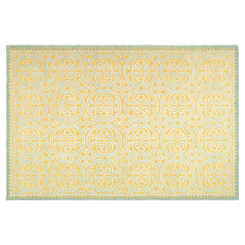 Shane Rug, Blue/Gold