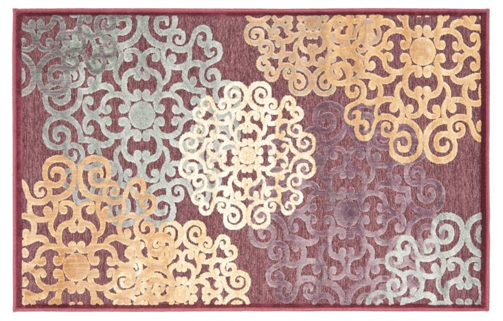 """5'3 x7'6""""Remi Rug, Red"""