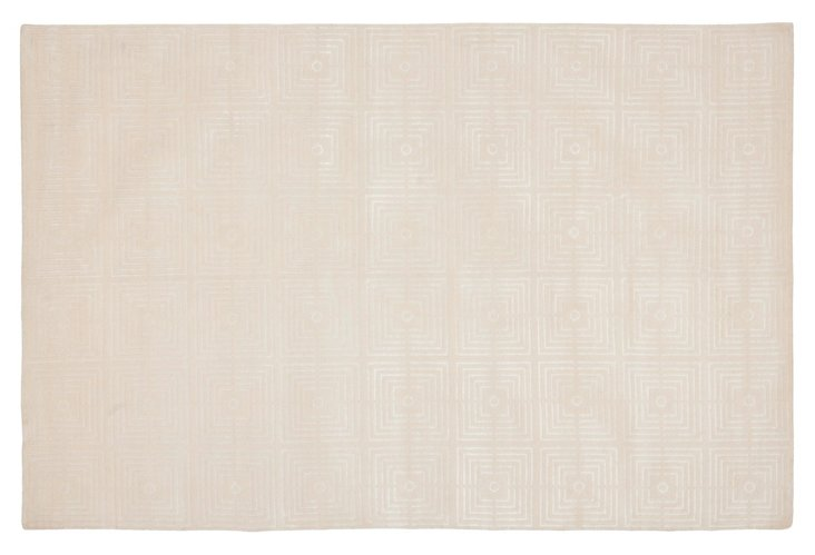 Thompson Silk-Blend Rug, Ivory