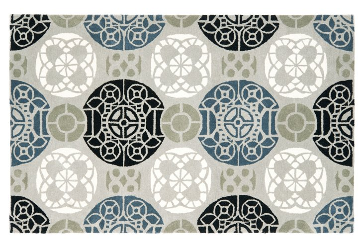 Bleeker Rug, Gray/Black