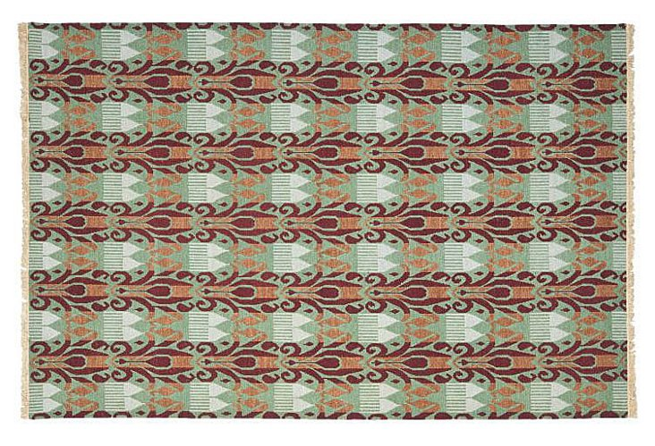 David Easton Flat-Weave Rug, Multi
