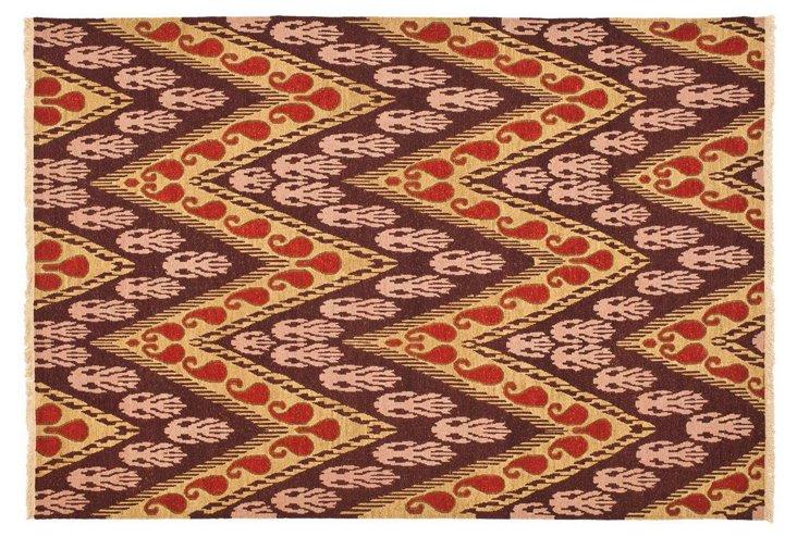 David Easton Flat-Weave Rug, Plum/Multi