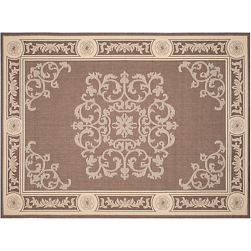 Beck Outdoor Rug, Chocolate/Natural