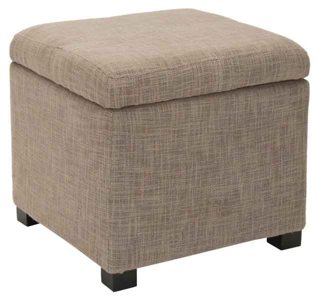Evenlyn Square Ottoman, Greige