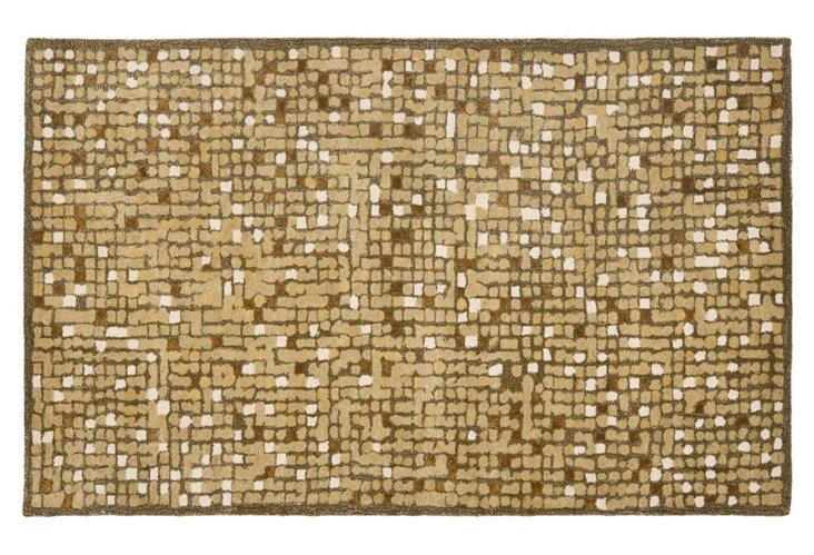 5'x8' Martha Stewart Mosaic Rug, Green