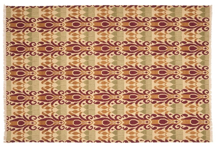 David Easton Flat-Weave Rug, Sage/Multi