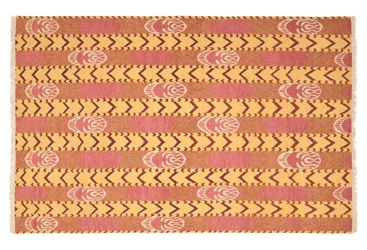 David Easton Flat-Weave Rug, Rose