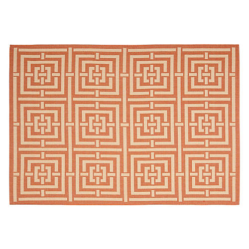 Rufus Outdoor Rug, Terracotta