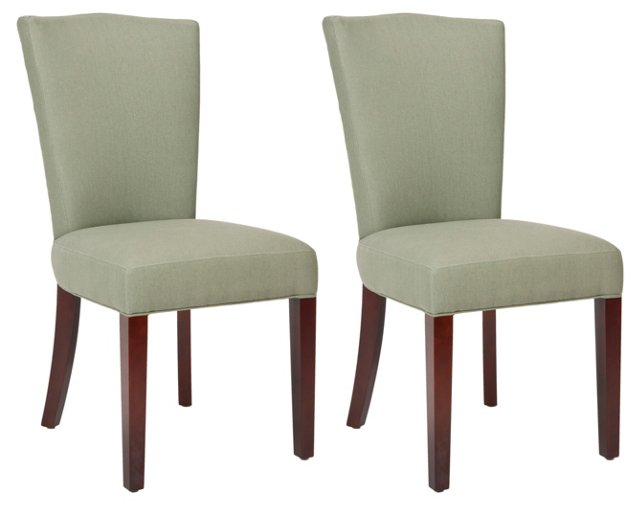 Sage Lucas Side Chairs, Pair