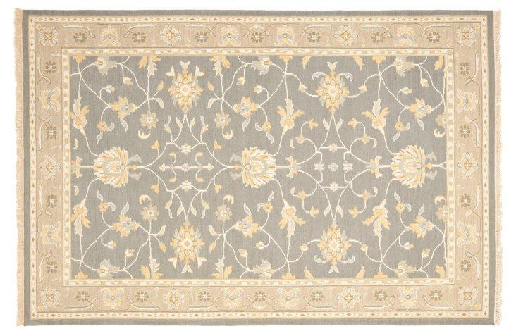 Lizann Flat-Weave Rug, Gray/Beige