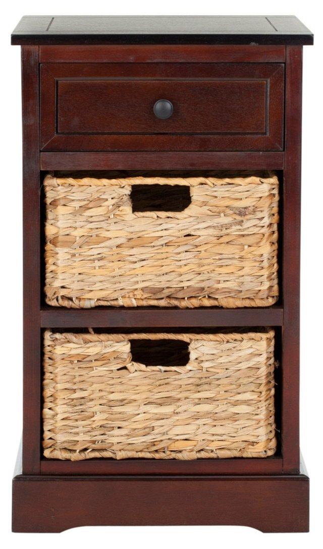 Kendall Side Storage Table, Dark Cherry