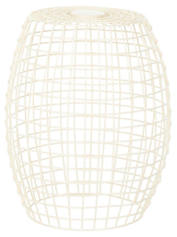 David Grid Stool, Ivory