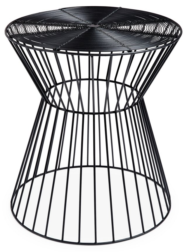 Outdoor Miller Stool, Black