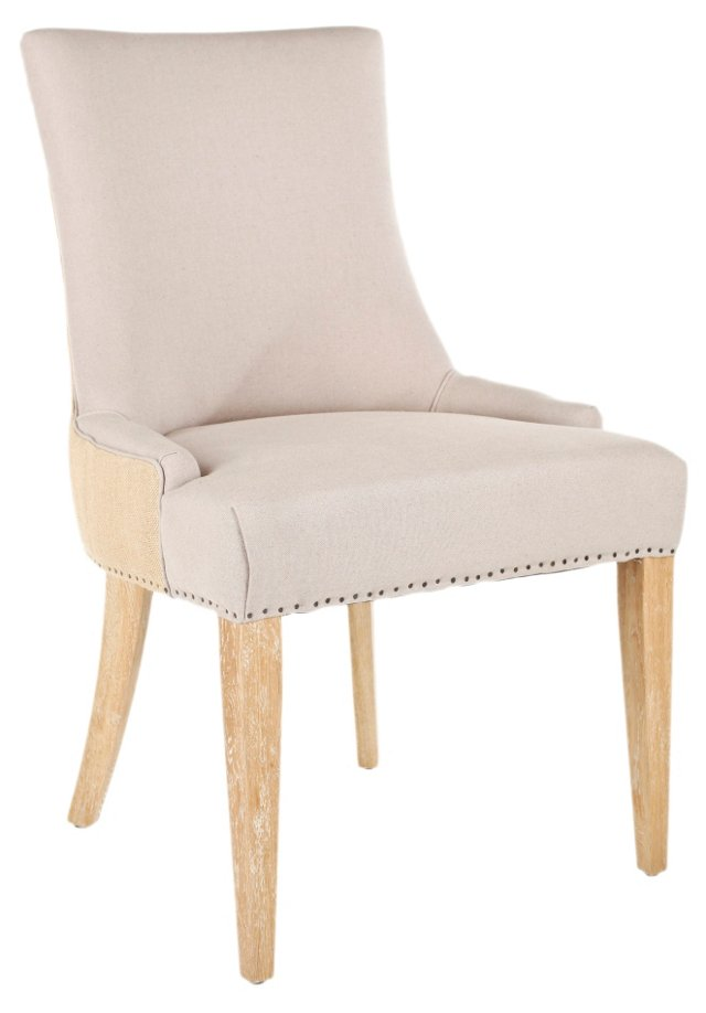 Colton Dining Chair, Beige/Jute
