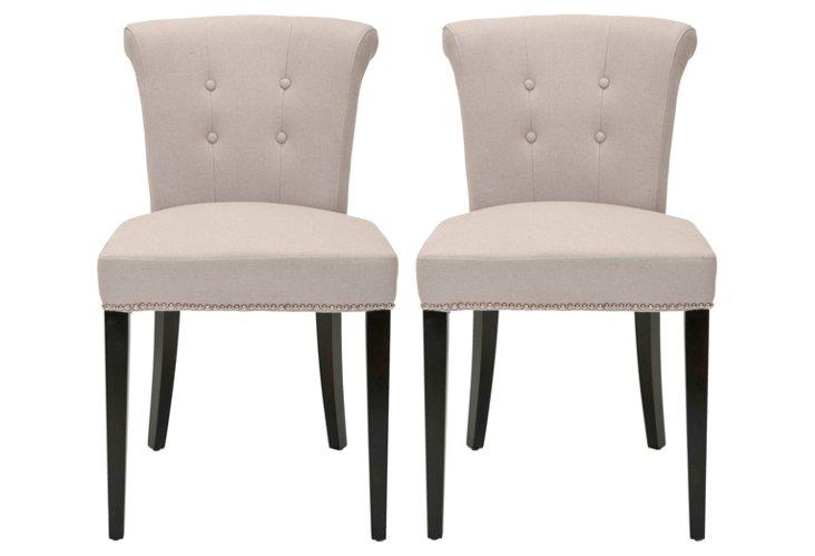 Beige Murphy Ring Chairs, Pair