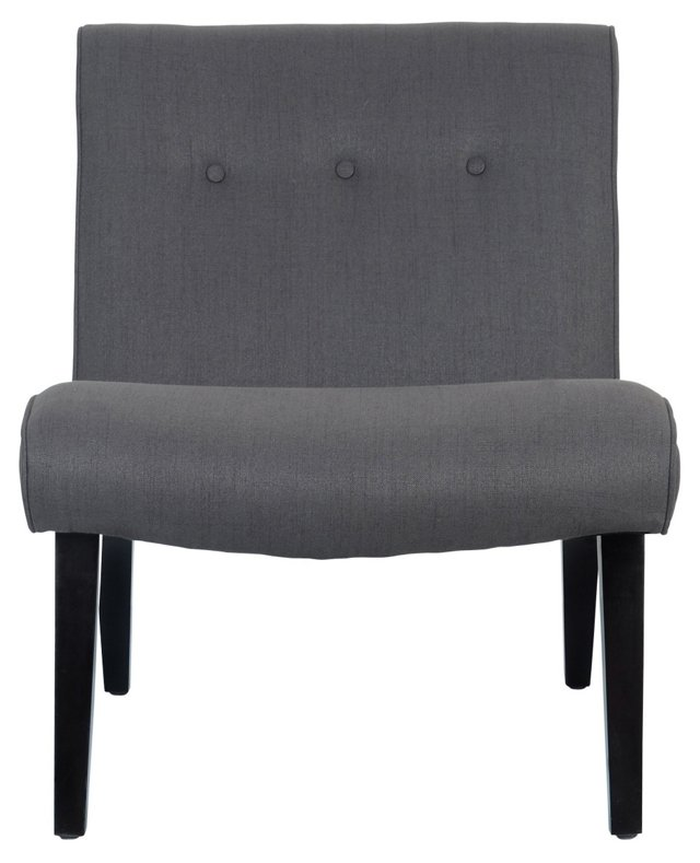 Maxwell Armless Chair, Charcoal
