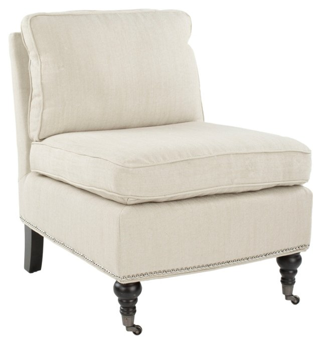Camden Accent Chair, Ivory