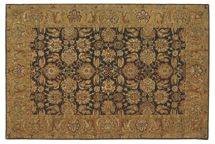 Louisa Rug, Dark Brown/Gold